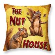 Nuthouse Throw Pillow
