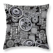 Nuts And Bolts Throw Pillow by Eleni Mac Synodinos