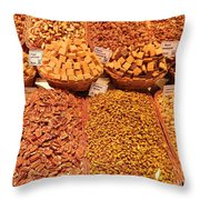 Nuts And Candy Throw Pillow