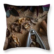 Nuts And Spices Series - Four Of Six Throw Pillow