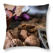Nuts And Spices Series - Six Of Six Throw Pillow