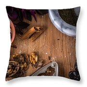 Nuts And Spices Series - Two Of Six Throw Pillow