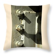 Nuts Bolts And Shadows Throw Pillow