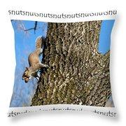 Nutsnutsnuts Throw Pillow
