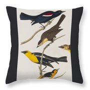 Nuttall's Starling Yellow-headed Troopial Bullock's Oriole Throw Pillow
