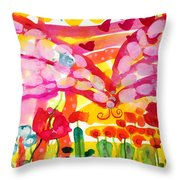 Nutterbutterfly Throw Pillow