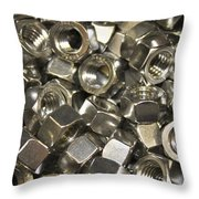 Nuuts And Bolts Throw Pillow