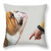 Nuvet - Betterhealthfordogs Throw Pillow