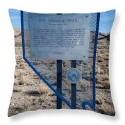 Nv-142 Old Spanish Trail Mountain Springs Pass Throw Pillow