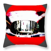 Ny 57th Street Fisheye Throw Pillow