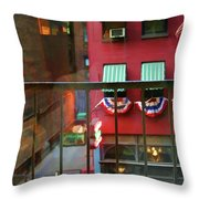 Ny Architecture Paint  Throw Pillow