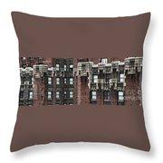 Ny Brick 4 Throw Pillow