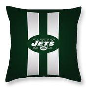 Ny Jets Football Throw Pillow