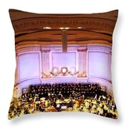 Ny Pops At Carnegie Hall Throw Pillow