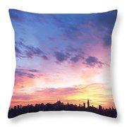 Ny Skyline Dawn Delight Throw Pillow