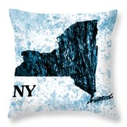Ny State Map  Throw Pillow