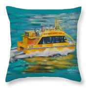 Ny Water Taxi Throw Pillow