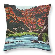 Nyangombe River Throw Pillow