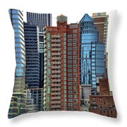 Nyc Architecture Buildings Tall  Throw Pillow