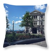 Nyc Battery Park Throw Pillow