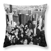 Nyc Bw Throw Pillow