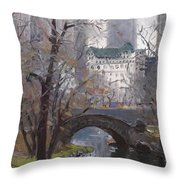 Nyc Central Park Throw Pillow