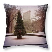 Nyc Christmas Throw Pillow