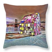 Nyc Color  Throw Pillow