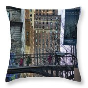 Nyc Crossings Daily Life Children  Throw Pillow