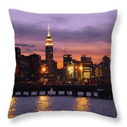 Sunset City Lights Throw Pillow