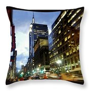 Nyc Fifth Ave Throw Pillow