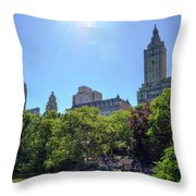 Nyc From Central Park Throw Pillow