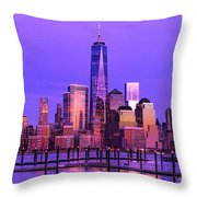 Nyc From Hoboken Throw Pillow