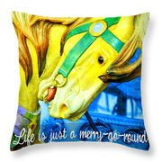 Nyc Golden Steed Quote Throw Pillow