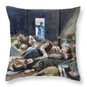 Nyc: Homeless, 1874 Throw Pillow