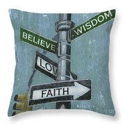 Nyc Inspiration 2 Throw Pillow by Debbie DeWitt