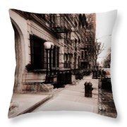 Nyc Neighborhood Series Throw Pillow