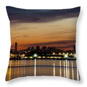 Nyc On A Still Night Throw Pillow