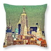 Nyc Scaped Throw Pillow