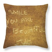 Nyc Street Art Quote Throw Pillow