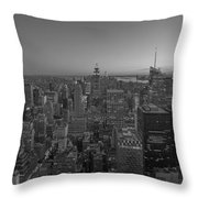 Nyc Sunset Bw Throw Pillow