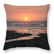 Nye Beach Sunset Throw Pillow