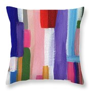 Nyhavn- Abstract Painting Throw Pillow