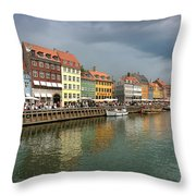 Nyhavn Copenhagen Denmark Throw Pillow