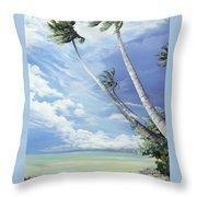 Nylon Pool Tobago. Throw Pillow by Karin  Dawn Kelshall- Best