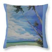 Nylon Pool Tobago. Throw Pillow by Karin  Dawn Kelshall- Best