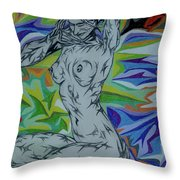 Nymph In Paradise Throw Pillow