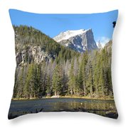 Nymph Lake In Rocky Mountain National Park Throw Pillow