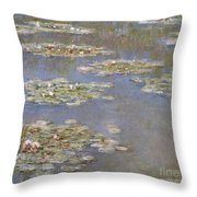 Nympheas Throw Pillow