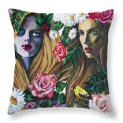 Nymphes Throw Pillow